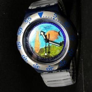 vintage swatch diving scuba watch 1990s 1993